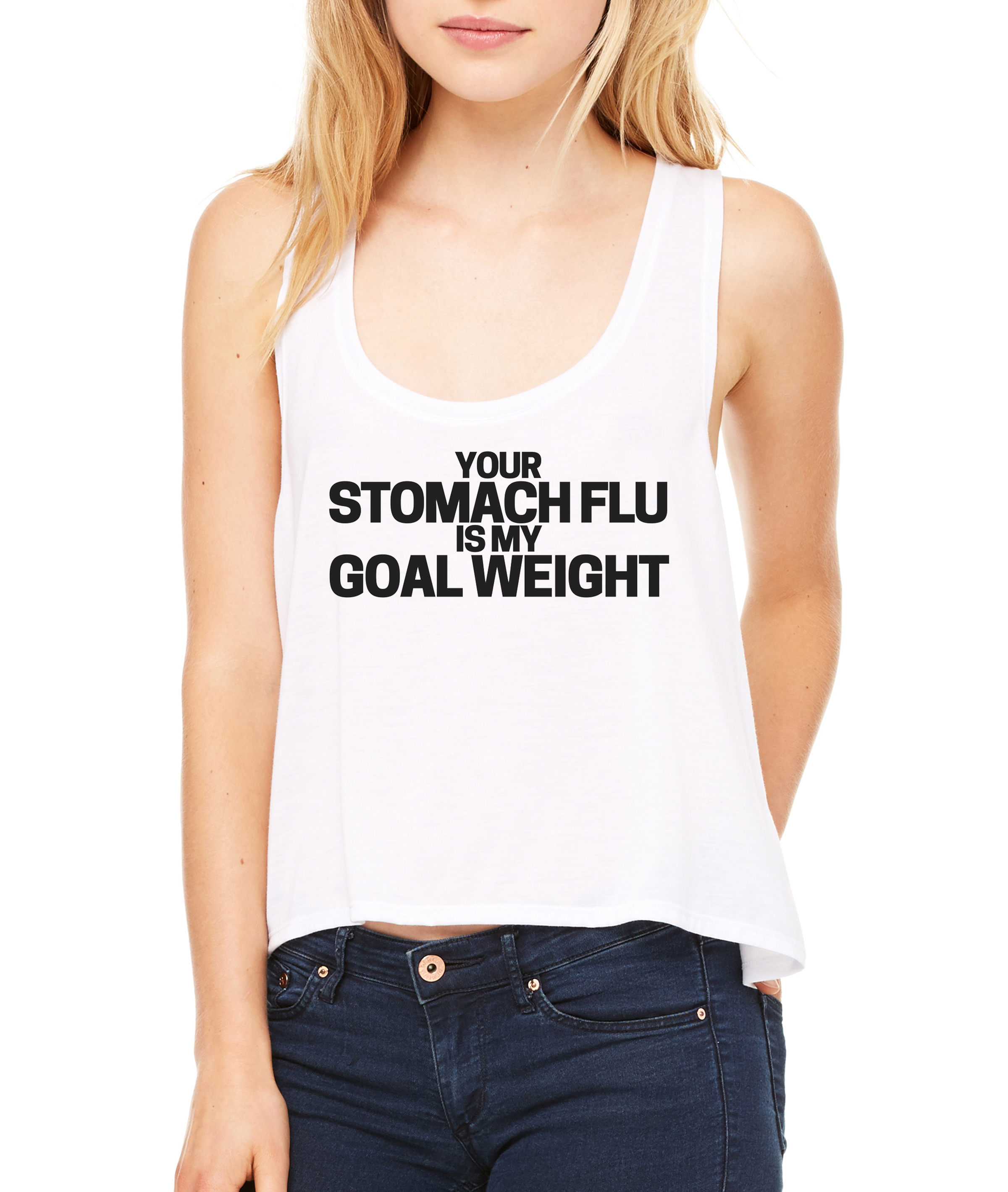 Stomach Flu Crop Tank