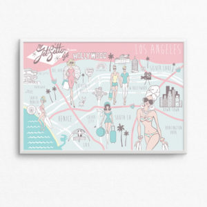 Los Angeles Map Print - Hamptons to Hollywood