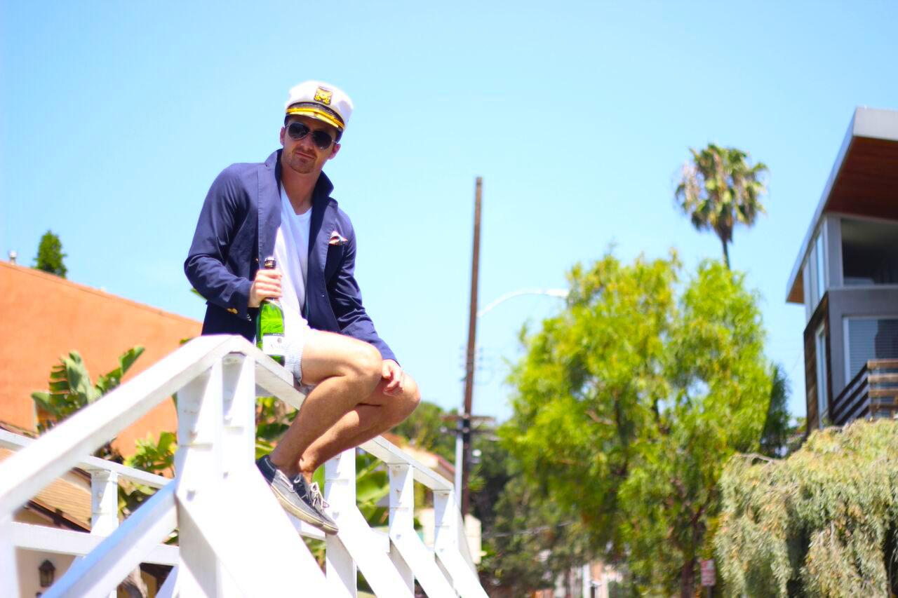 Kyle Langan - Hamptons to Hollywood - Nautical Champagne Menswear