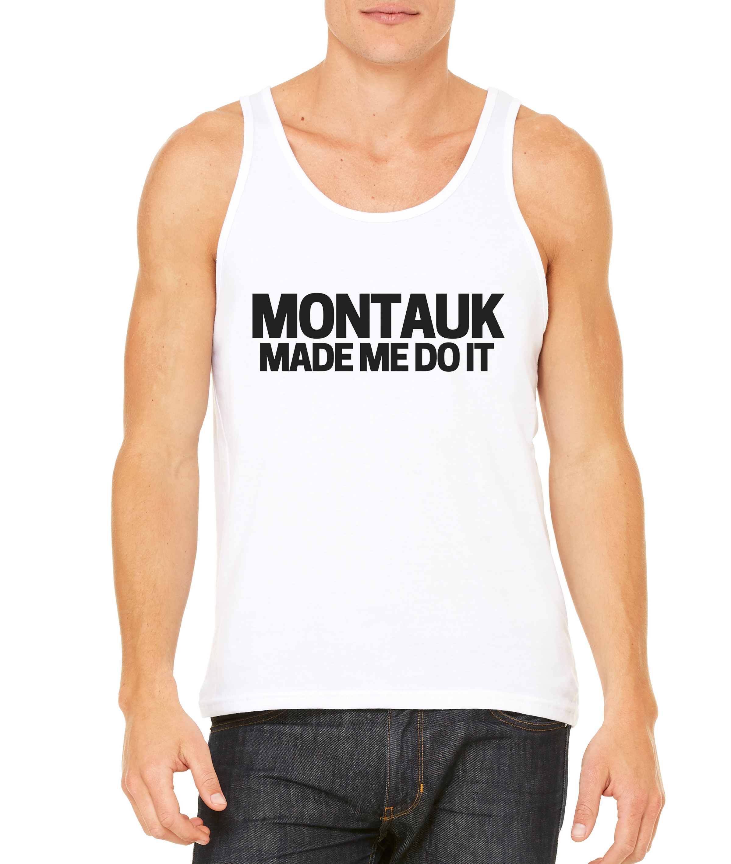 Montauk White Men's Tank