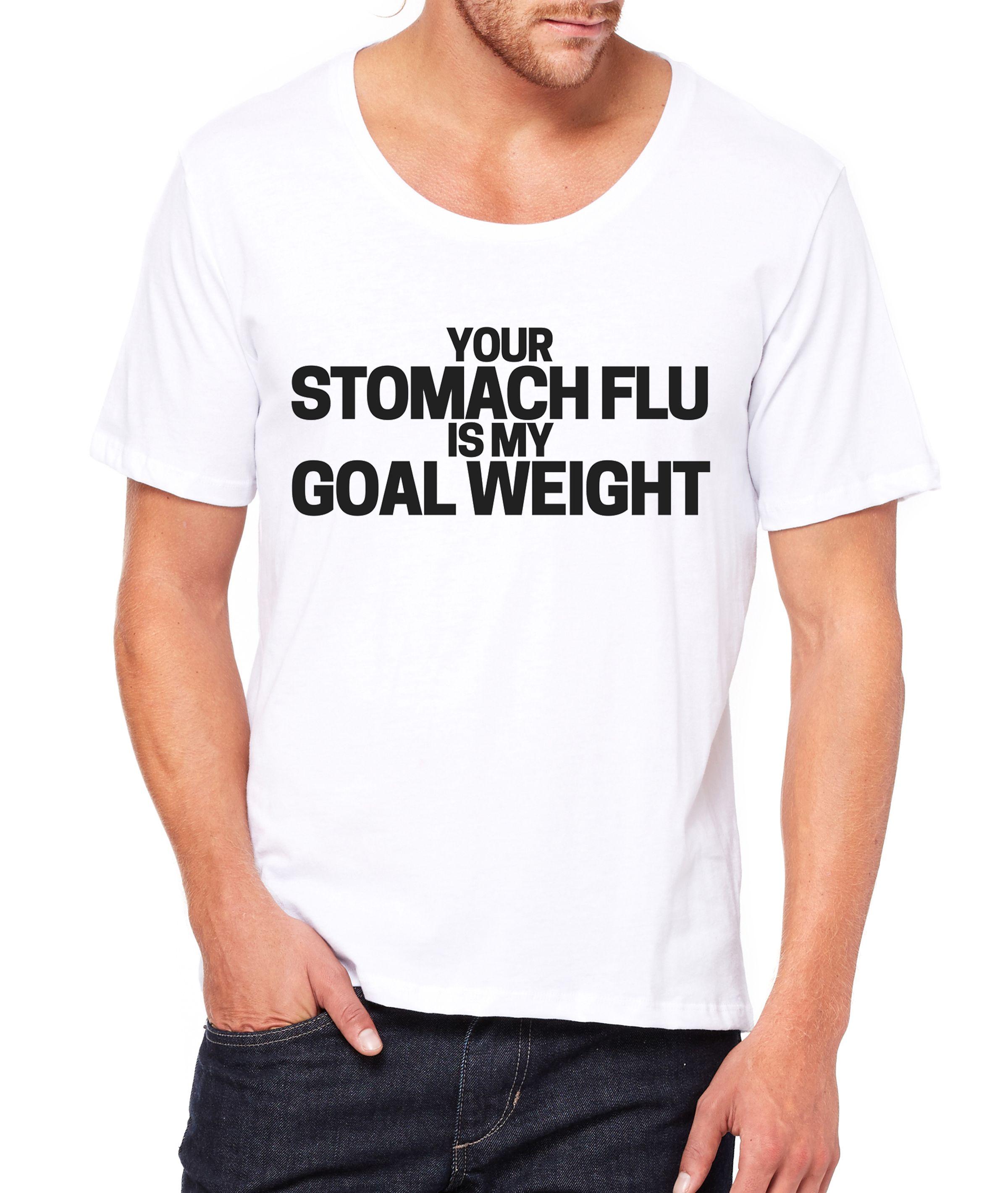 Stomach Flu Men's Wideneck Tee