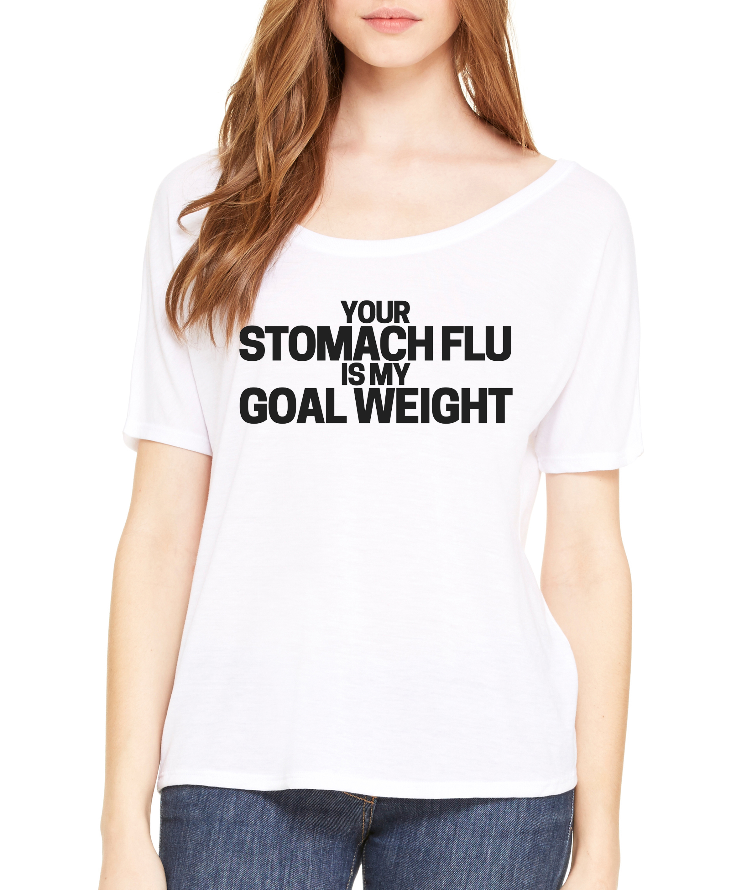 Stomach Flu Off The Shoulder Tee