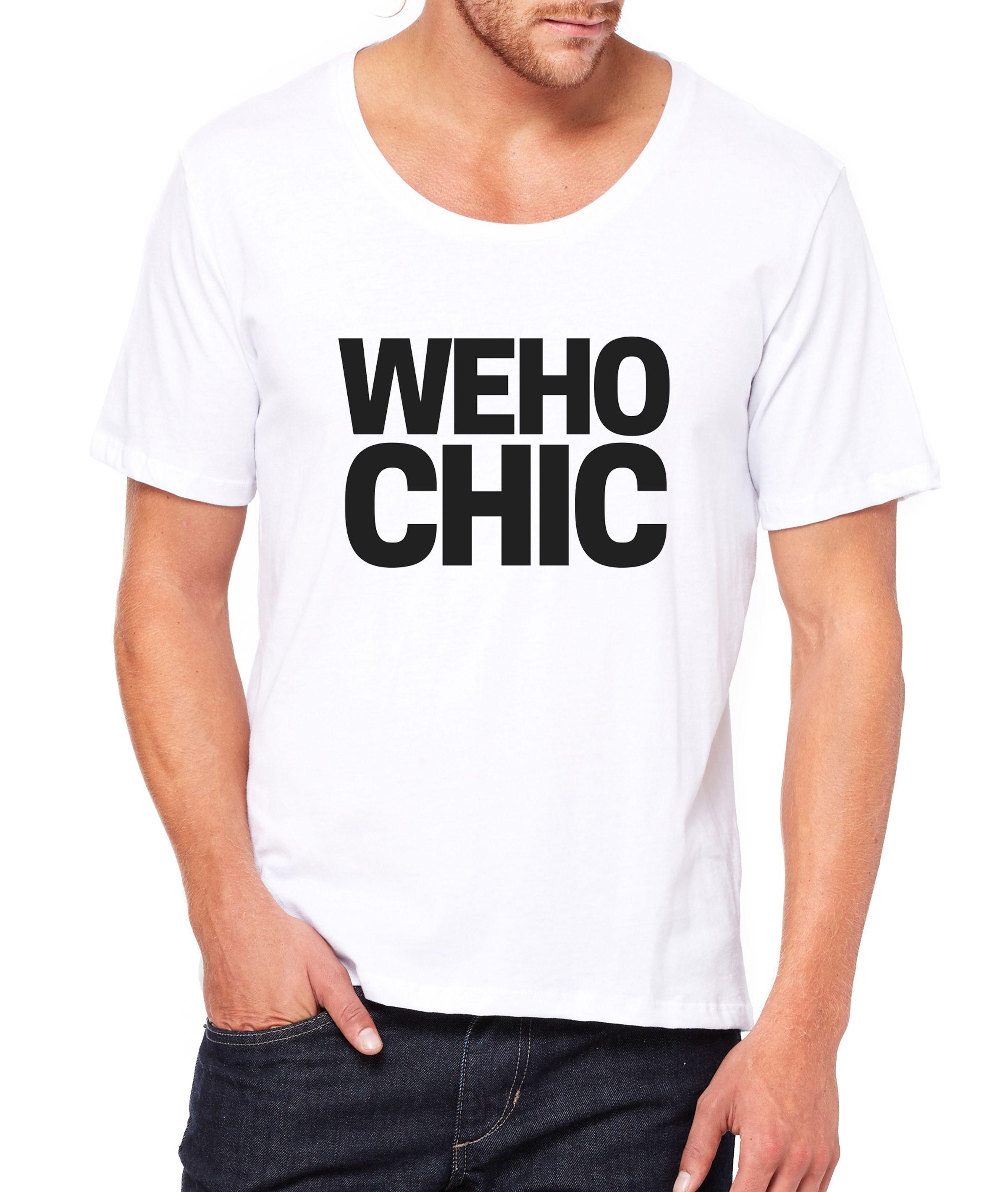 WeHo Chic Men's Wideneck Tee