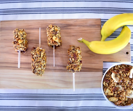 New Banana Granola Pops