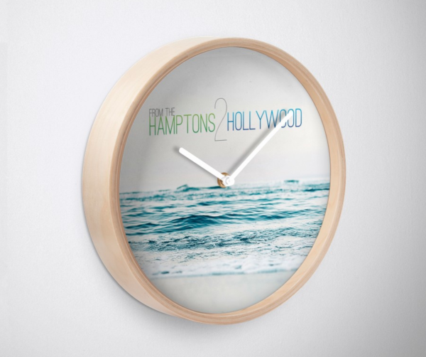 Hamptons to Hollywood Small Waves Clock