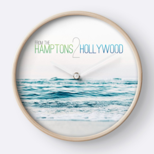 Hamptons to Hollywood Small Waves Clock