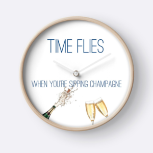 Hamptons to Hollywood Champagne Clock