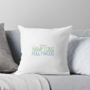 Hamptons to Hollywood Throw Pillow